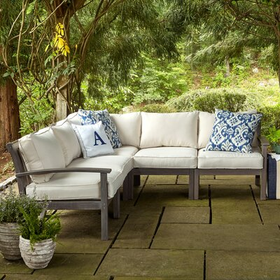 Rossi Sectional with Cushions Fabric: White