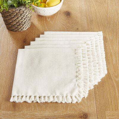 Robbinston Napkins Color: White Alyssum