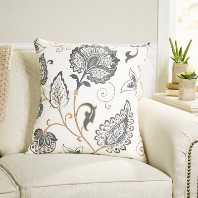 Lyla Pillow Cover Color: Ivory/Gray