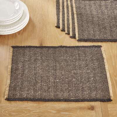 Hampden Placemats Color: Black