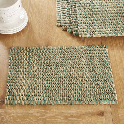 Pescadero Placemats (Set of 6) Color: Dash Fern