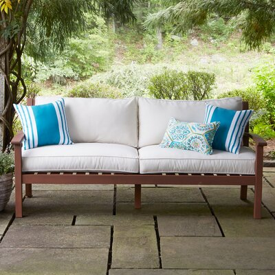 Rossi Sofa with Cushions Fabric: White
