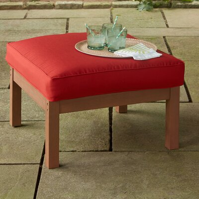 Rossi Ottoman with Cushion Fabric: Red