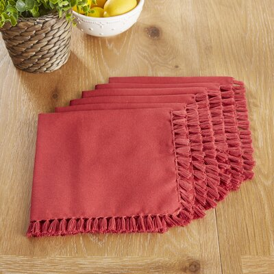 Robbinston Napkins Color: Red