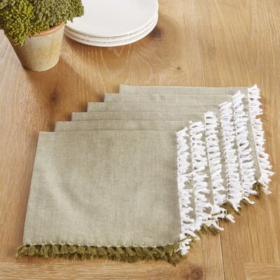 Huddersfield Napkins Color: Olive Branch