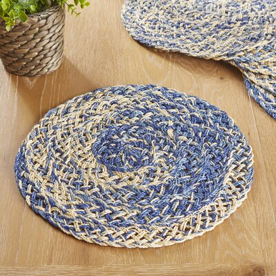 Barbados Placemats (Set of 6) Color: Blue