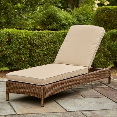 Lawson Chaise Lounge with Cushions Fabric: Sand