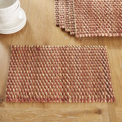 Pescadero Placemats (Set of 6) Color: Dash Rust