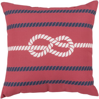 Figure Eight Polyester Throw Pillow Color: Red & White, Size: 18
