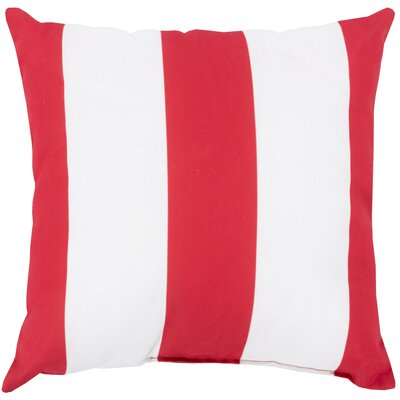 Outdoor Pillow-Red & White Stripe