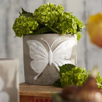Butterfly Cement Pot Planter (Set of 2)