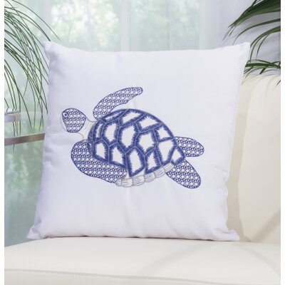 Emilia Turtle Shoreline Embroidered Throw Pillow