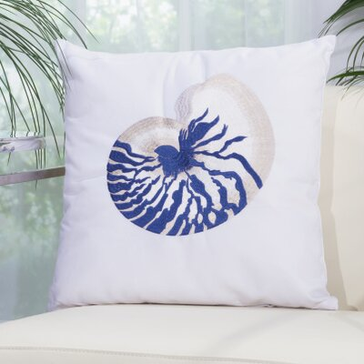 Emilia Seashell Shoreline Embroidered Pillow Cover