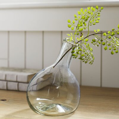 Angled Recycled Glass Bud Vase