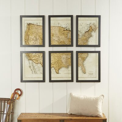 Vintage USA Map Wall Art