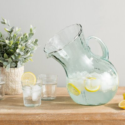 Ribbed Leaning Pitcher