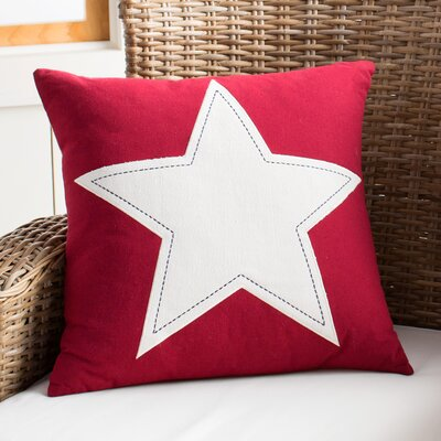 Nancy Pillow Color: Red