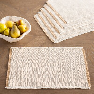 Hampden Placemats Color: Natural