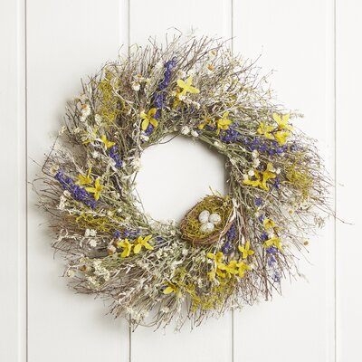 22 Floral Burst Wreath Size: 22 H x 22 W x 5 D