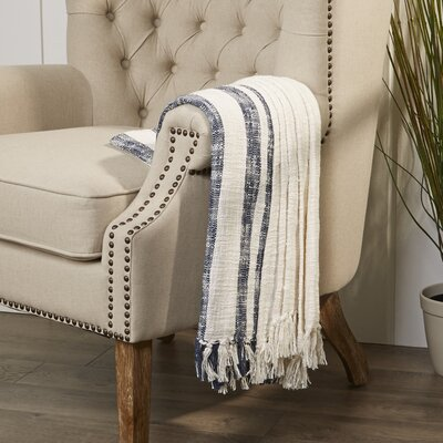 Margerie Throw Color: Off White / Blue