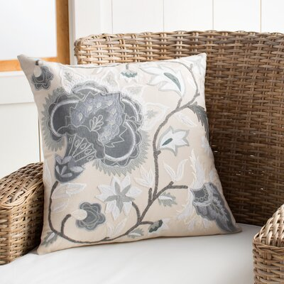Iva Pillow Cover Color: Cream