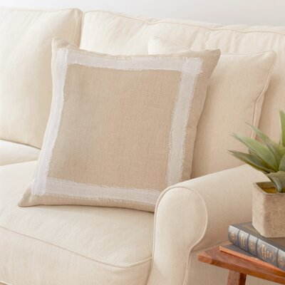 Lapham Linen Pillow Color: Khaki