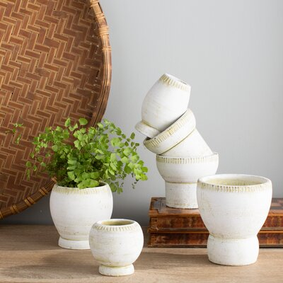 Voss 6-Piece Clay Pot Planter Set