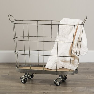 Laskey Rolling Laundry Hamper