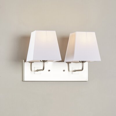 Highmore 2-Light Wall Sconce Bulb Type: 75W Med. Bulb