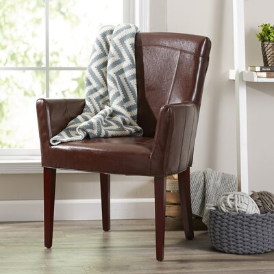 Rodman Armchair Finish: Brown Leather