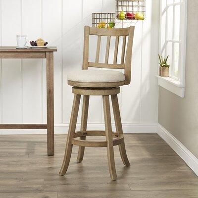 Naelle 29 Swivel Bar Stool Upholstery: Ivory