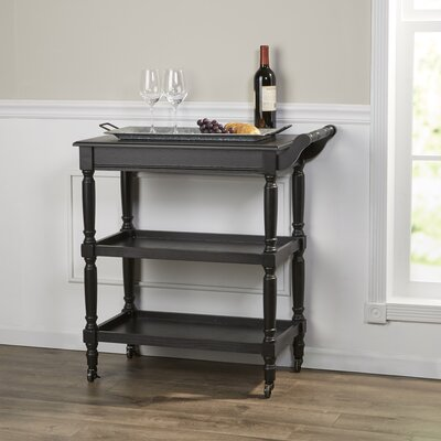 Huddleston Bar Cart Frame Finish: Black