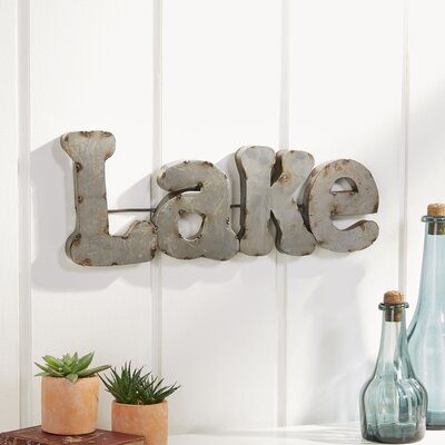Reclaimed Tin Lake Sign
