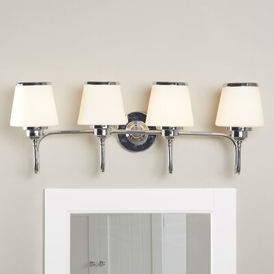 Dodwell 4-Bulb Vanity Light Finish: Chrome