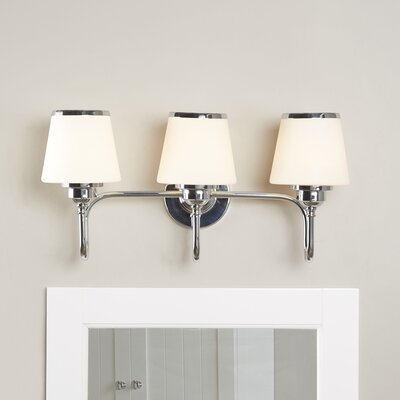 Dodwell 3-Bulb Vanity Light Finish: Chrome