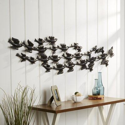Swallow Flock Metal Wall Decor