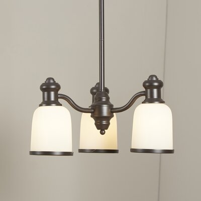 Somers 3-Light Shaded Chandelier