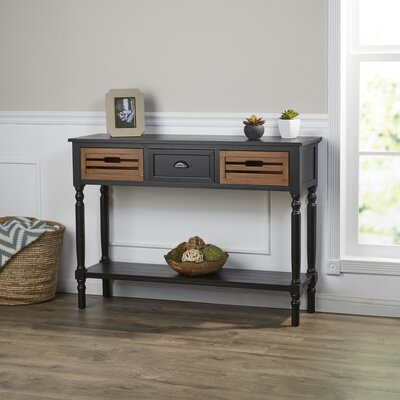 Ingham Console Table Color: Black