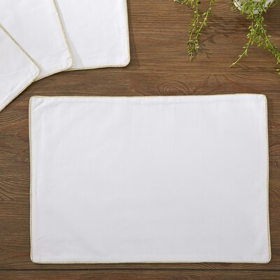 Linton Placemats Color: Gold