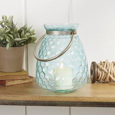 Misty Honeycomb Glass Lantern Size: Medium