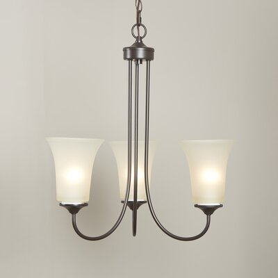 Bethesda 3-Light Shaded Chandelier Finish: Oil Rubbed Bronze