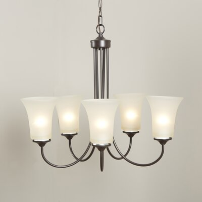 Bethesda 5-Light Shaded Chandelier Finish: Oil Rubbed Bronze