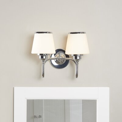 Dodwell 2-Bulb Vanity Light Finish: Chrome