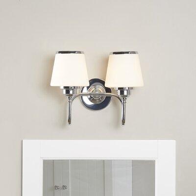 Dodwell 2-Bulb Vanity Light Finish: Chrome