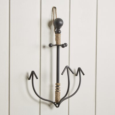 Metal and Rope Anchor Hook Finish: Black