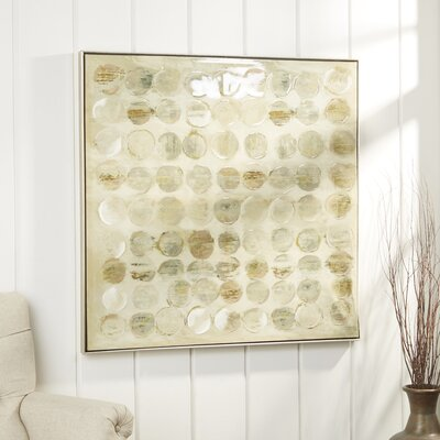 Birch Lane Discs Framed Canvas