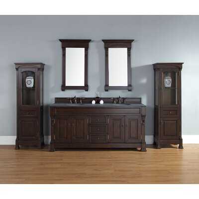 Stockbridge 72 Double Vanity Base Finish: Mahogany, Top Finish: Galala Beige