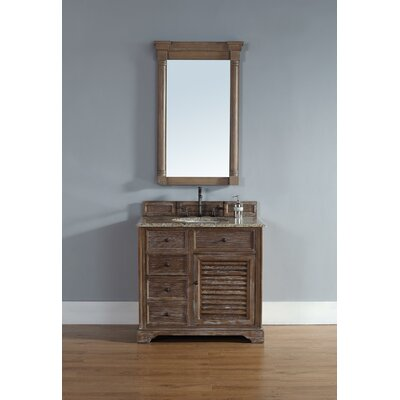 Comstock 36 Single Vanity Set  Top Finish: Rustic Black