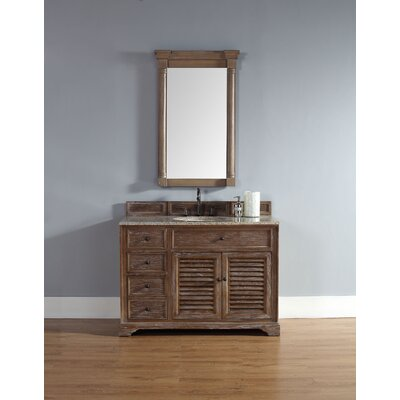 Comstock 48 Single Vanity Set  Top Finish: Rustic Black
