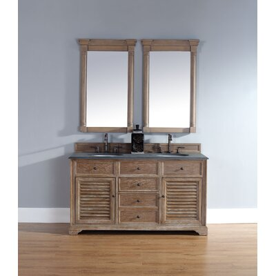 Comstock 60 Double Vanity Set  Top Finish: Rustic Black